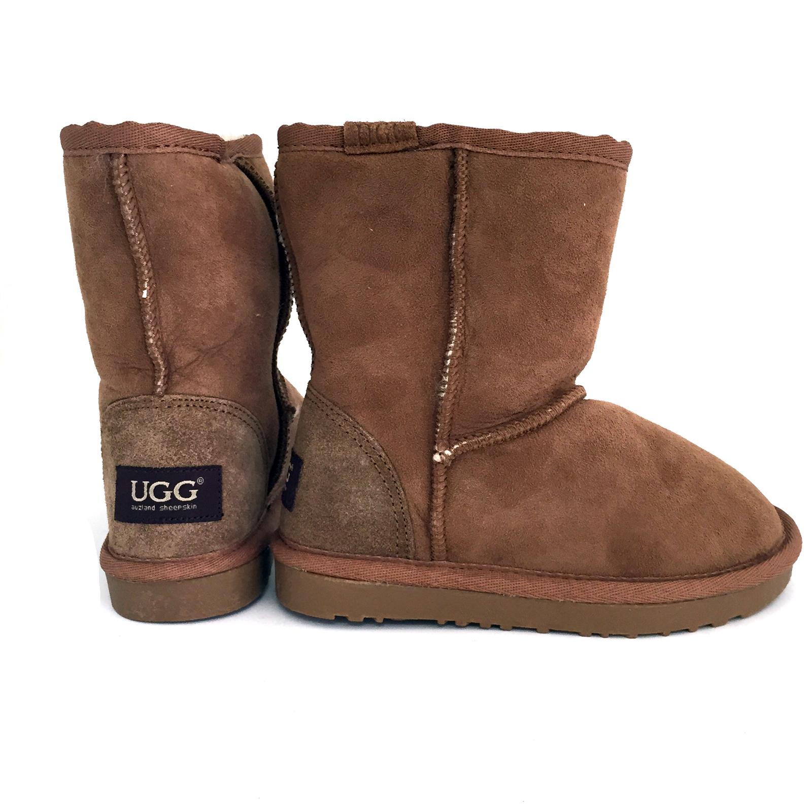 Auzland UGG Classic Kids Sheepskin Boots Chestnut